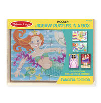 Melissa & Doug: Fanciful Friends Jigsaw Puzzles in a Box