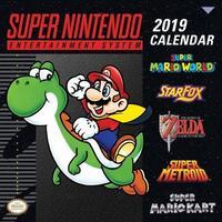 Super Nintendo Retro Art 2019 Wall Calendar by Nintendo