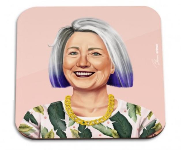 HipStory Coaster - Hilary Clinton