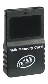 Tru Blu 4MB Memory Card (Black) for GameCube