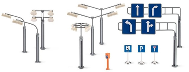 Siku: Road signs and street lamps Accessories