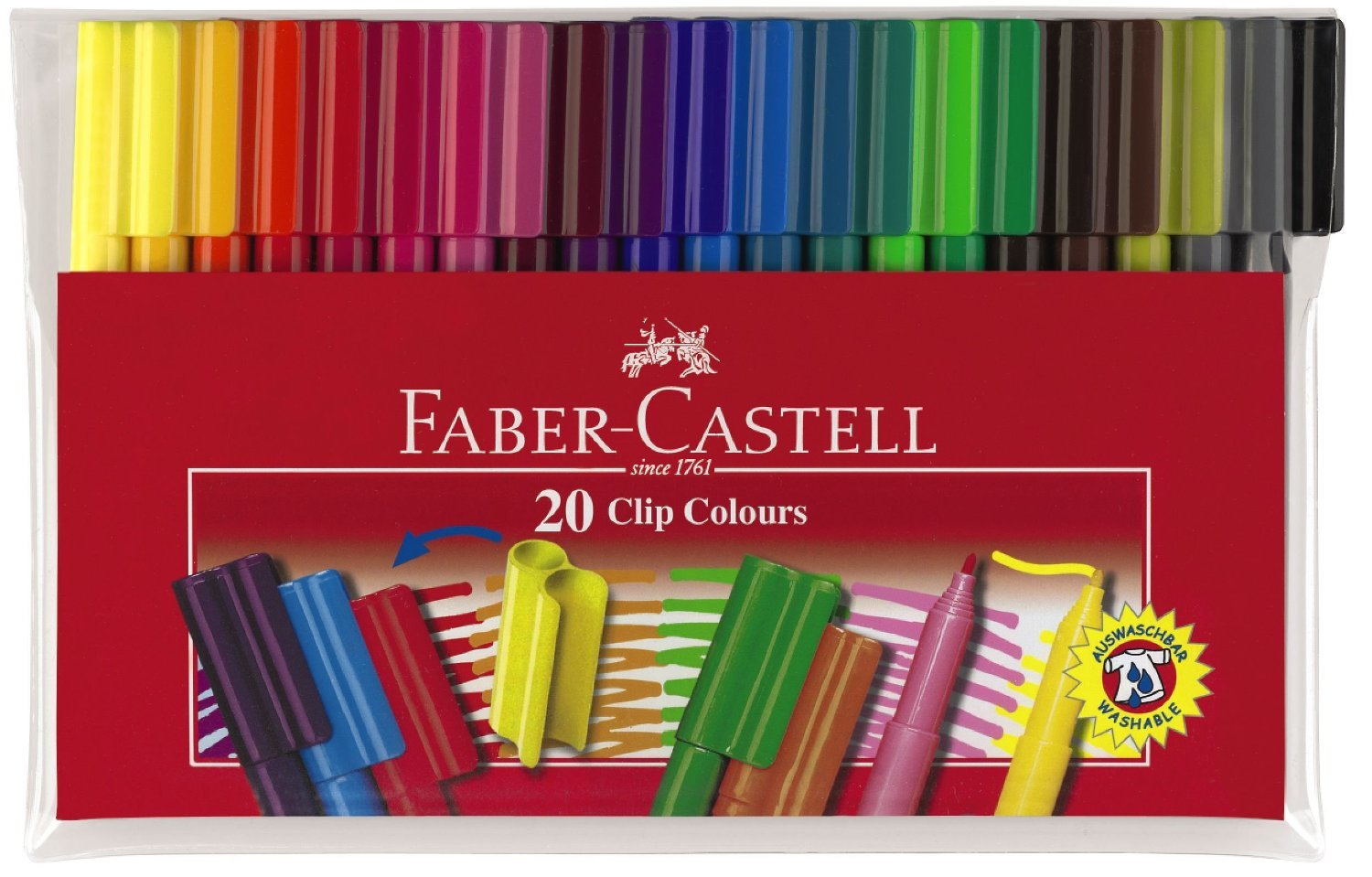 Faber-Castell Connector Pens: Felt Tip - Pack of 20 image