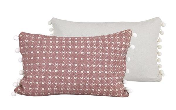 Raine & Humble Cushion Butterfly Lace - Mushroom Pink (30X60cm)