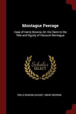 Montague Peerage by Emile Edmond Saisset