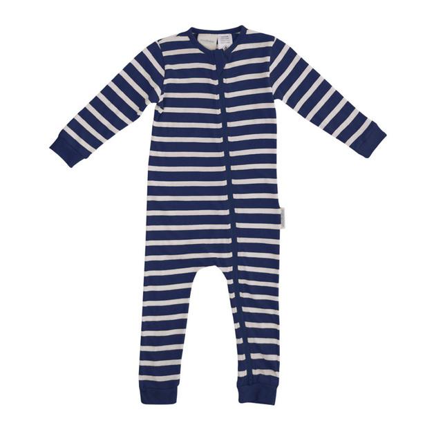 Woolbabe: Merino Organic Cotton PJ Suit - Midnight (3-6 Months)