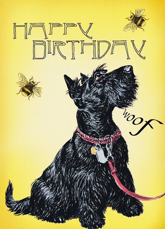 Madam Treacle: Woof Happy Birthday Card