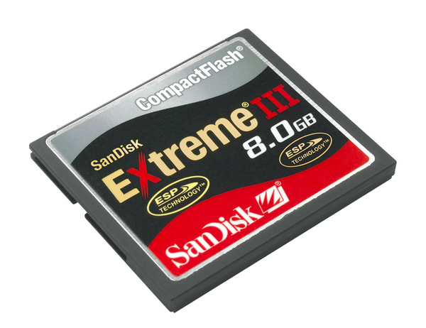 SanDisk Compact Flash Extreme III 8192MB (8GB)  Memory image