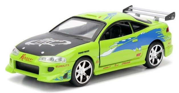 Jada: 1/32 Brian's Mitsi Eclipse (Green) - Diecast Model