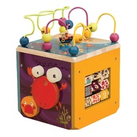 Battat: B. Underwater Zoo Wooden Activity Cube