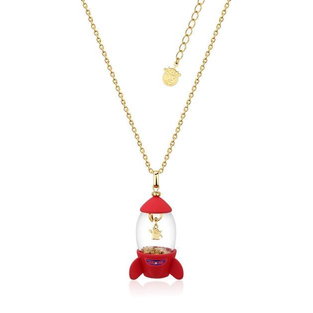 Couture Kingdom: Disney Pixar Toy Story Alien Pizza Planet Rocket Necklace - Gold