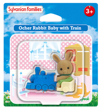 Sylvanian Families: Orcher Rabbit Baby with Train image