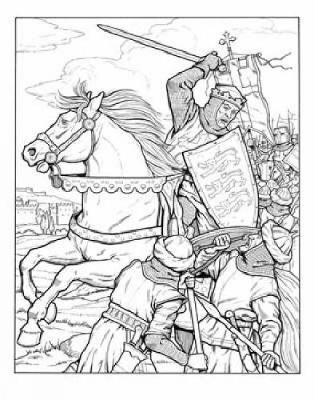 Kings and Queens of England Coloring Book by John Green image