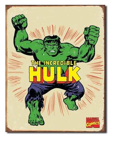 Marvel: The Incredible Hulk - Retro Tin Sign