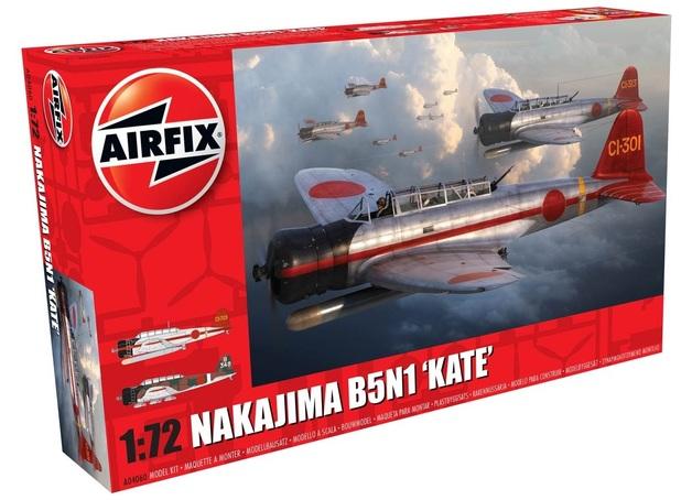 """Airfix 1:72 Nakajima B5N1 """"Kate"""" - Model Kit"""