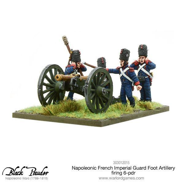 Napoleonic French Imperial Guard Foot Artillery 6 pdr