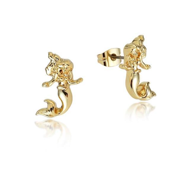 Disney: Princess Ariel Stud Earrings - Yellow Gold