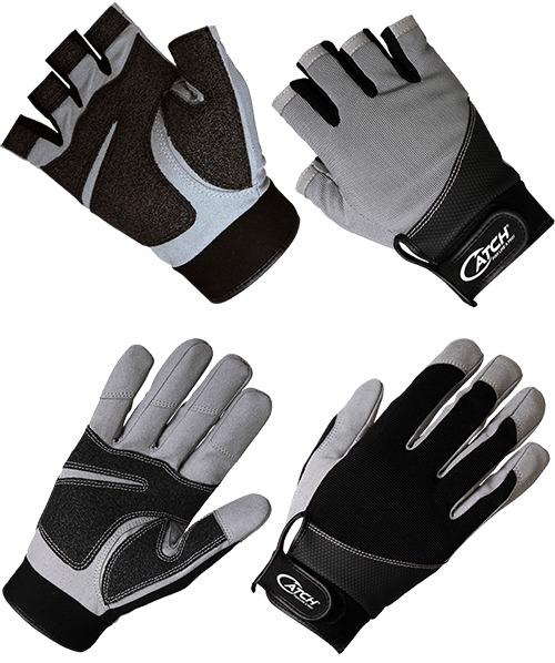 Catch heavy duty kevlar fingerless jigging gloves S/M image