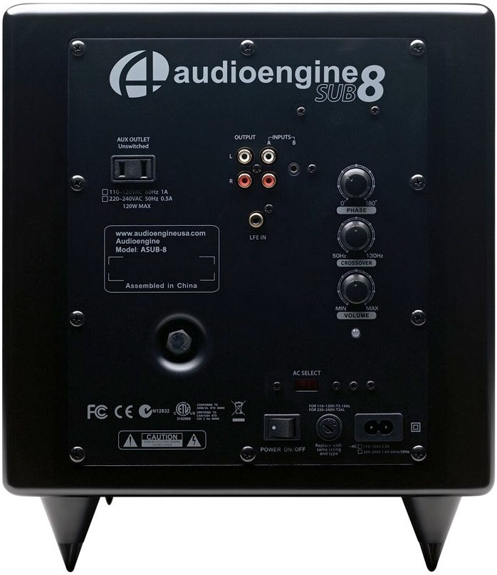 Audioengine: S8 Powered Subwoofer - Satin Black image
