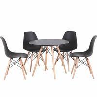 Fraser Country: Elegant Round Dining Table - Black