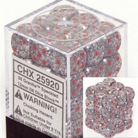 Chessex Speckled 12mm D6 Dice Block: Granite