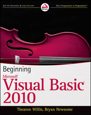 Beginning Visual Basic 2010 by Thearon Willis image