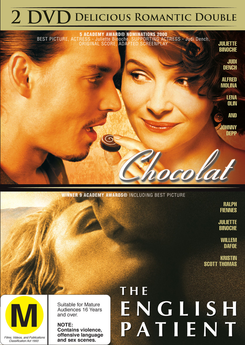 Chocolat / English Patient on DVD image