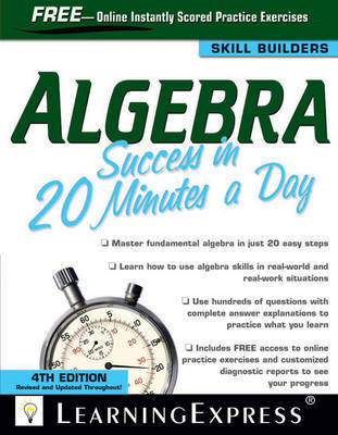 Algebra Success in 20 Minutes a Day by Learning Express LLC image