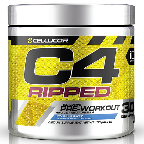 Cellucor C4 Ripped Pre-Workout - Icy Blue Razz (30 Serve) image