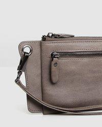 Belle and Bloom: Penelope Leather Wallet - Ash image