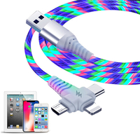 3-in-1 Illuminated Charging Cable - Rainbow (1m)