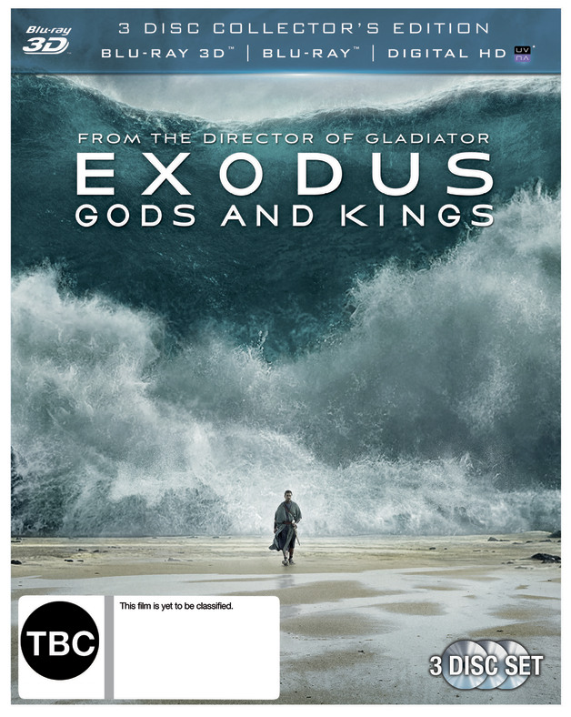 Exodus: Gods & Kings on Blu-ray, 3D Blu-ray