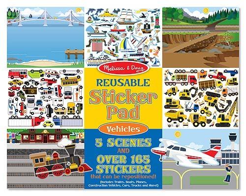 Melissa & Doug: Vehicles Reusable Sticker Pad image
