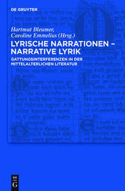 "Lyrical Narratives a "" Narrative Lyrics. Genre Interferences in Medieval Literature image"