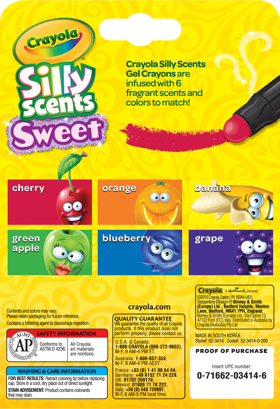 Crayola: Silly Scents Gel Crayons - 6 Pack image