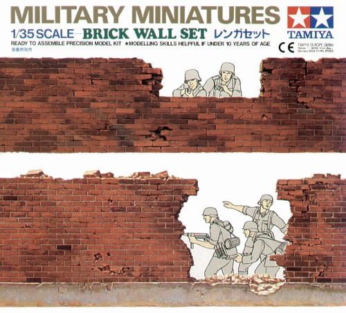 Tamiya Brick Wall Set 1:35 Model Kit