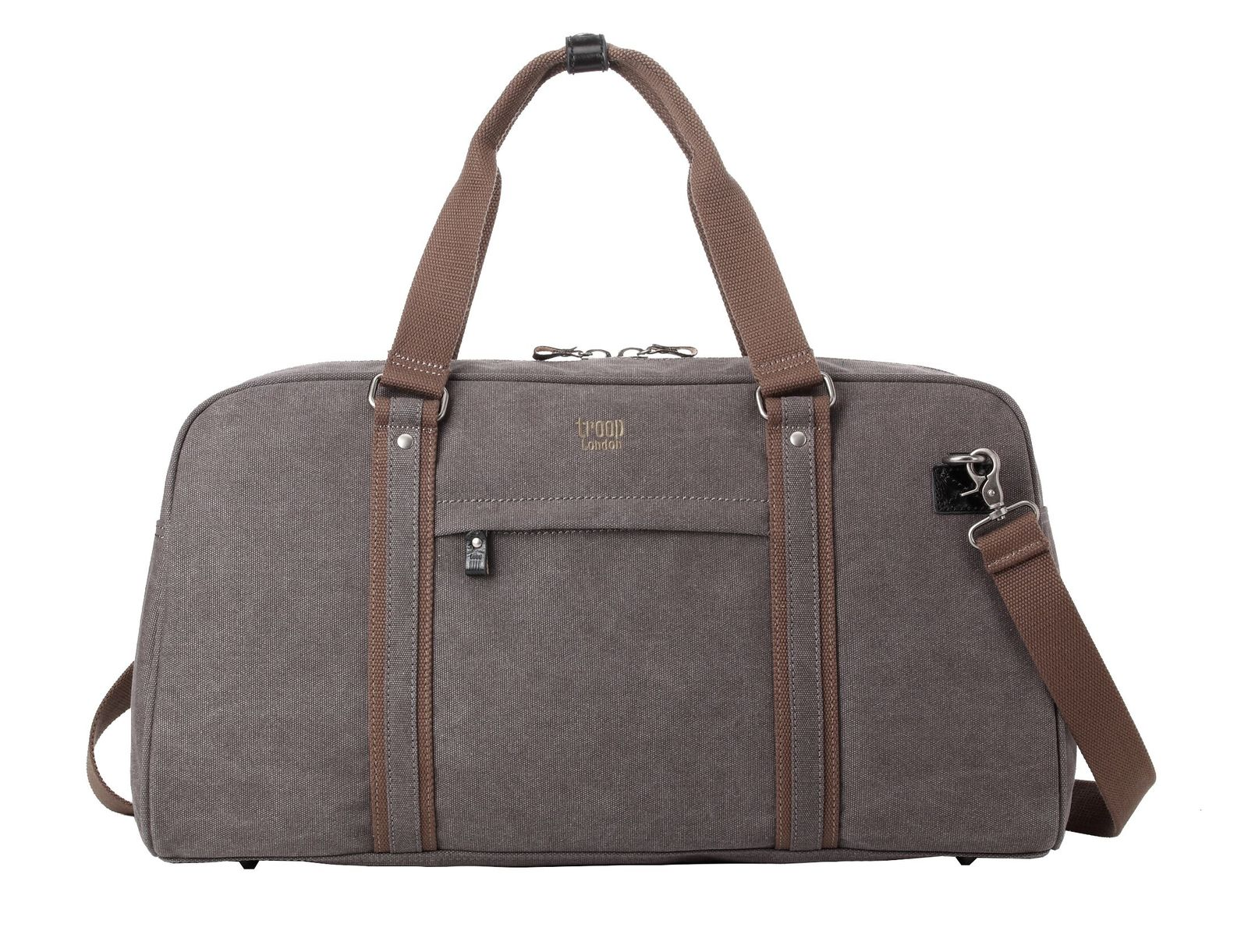 Troop London: Explorer Holdall - Black w/Khaki Trim image