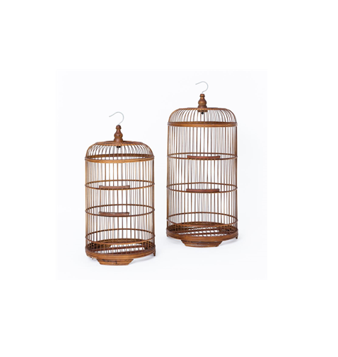 Raffles Bird Cages - Antique Brown