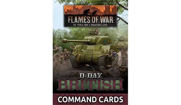 "Flames of War: ""D-Day British"" Command Cards (47 cards)"