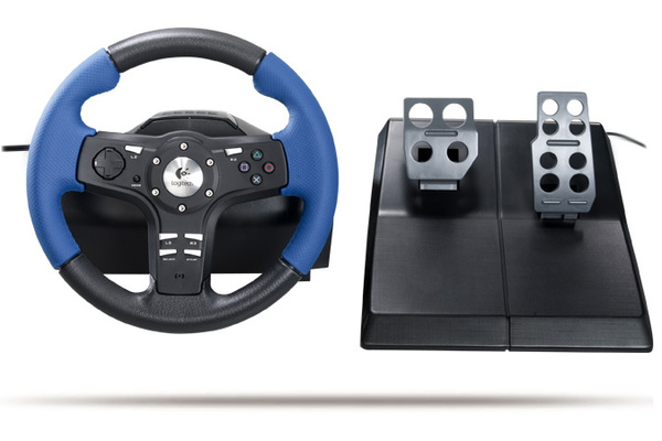 Logitech Driving Force EX Steering Wheel for PlayStation 2 image