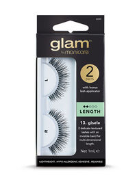 Glam by Manicare - 13. Giselle Length Lashes (2pk)