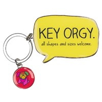 Happy Jackson Key Orgy Keyring
