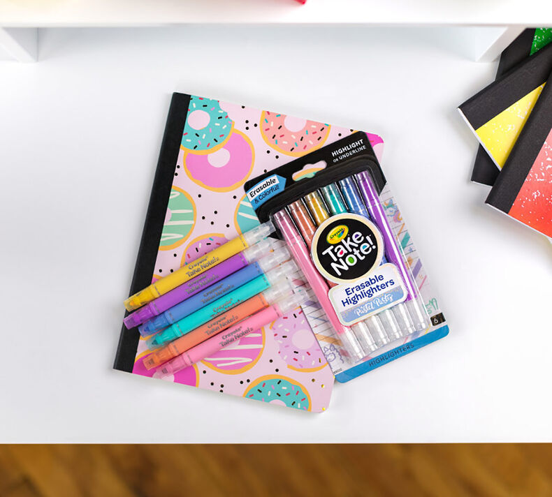 Crayola: Take Note - Pastel Erasable Highlighters (6-Pack) image