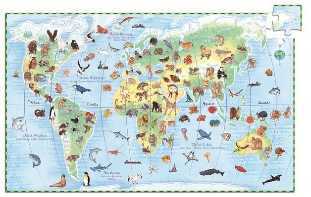 Djeco: World Animals Jigsaw Puzzle
