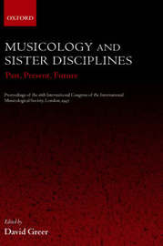 Musicology and Sister Disciplines