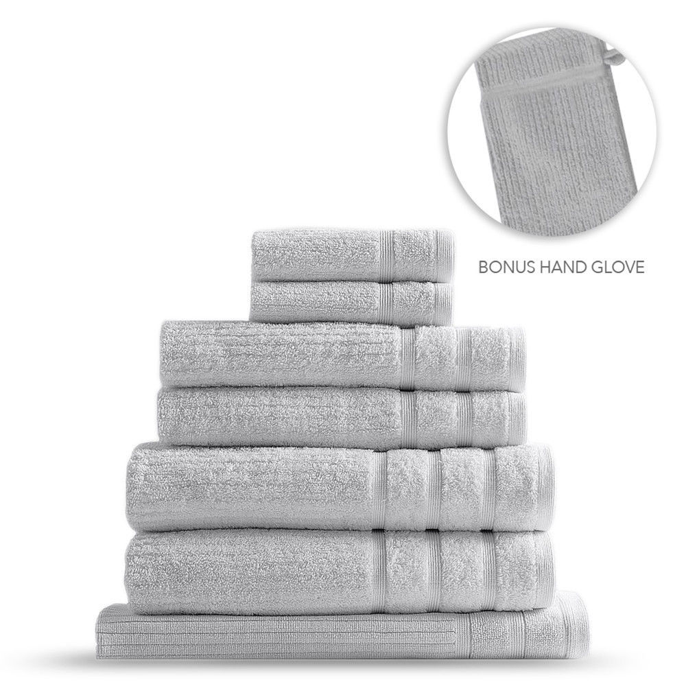 Royal Comfort Eden Egyptian Cotton 600GSM 8-Piece Towel Pack - Sea Holly image