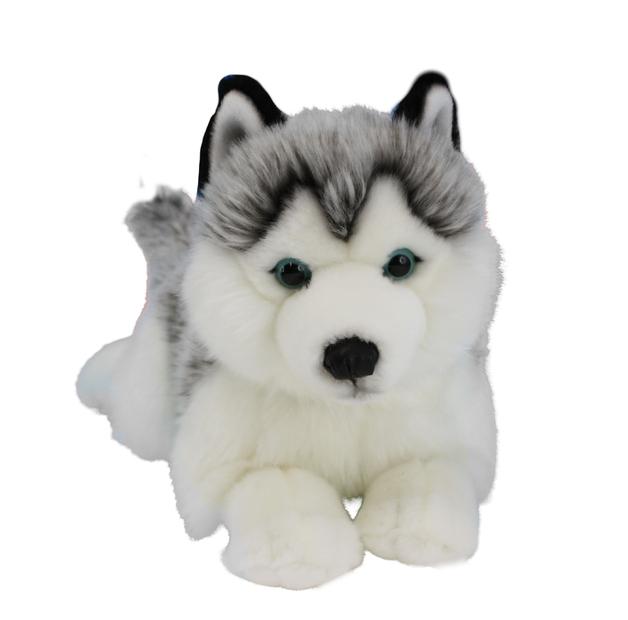 Husky Dog Lying Plush