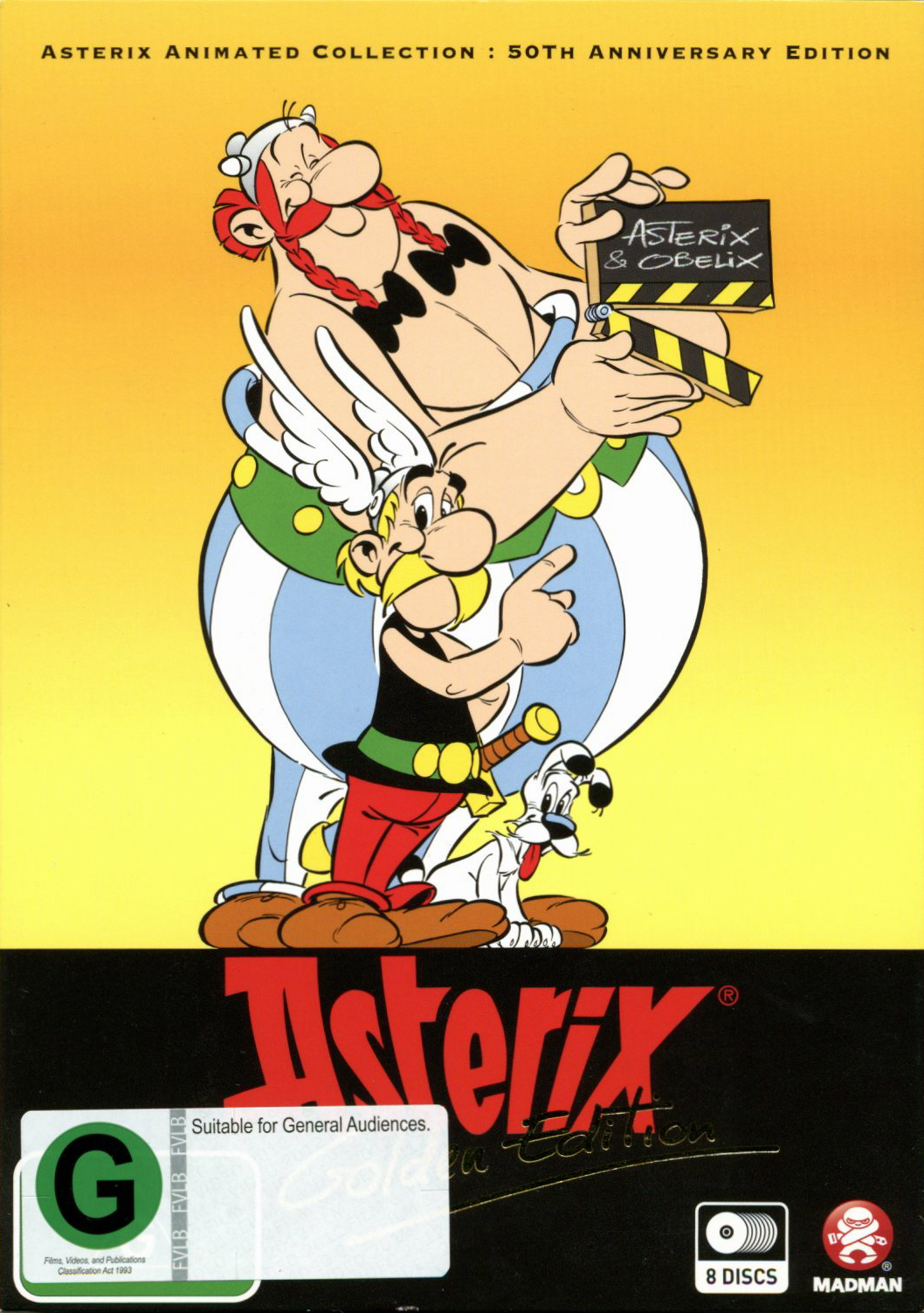 Asterix Animated Collection - Golden Edition on DVD image