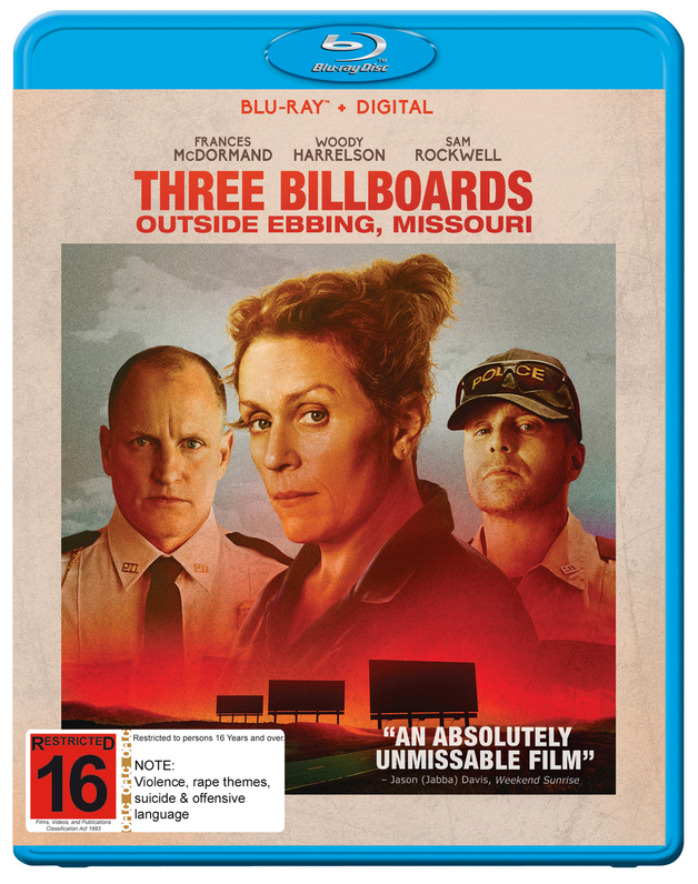 Three Billboards Outside Ebbing, Missouri on Blu-ray