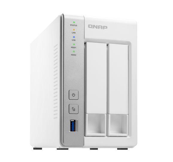 QNAP TS-231P2-1G, 2BAY (NO DISK), 1GB, AL314 Quad core, 2x GbE, 3 x USB3.0, TWR, 2YR image