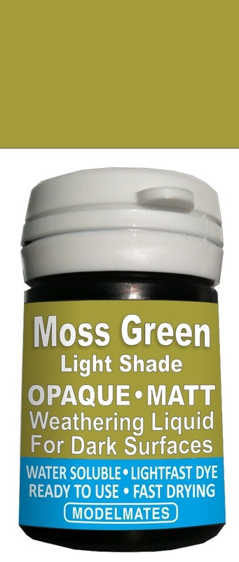 Modelmates: Opaque Weathering Liquid - Light Moss